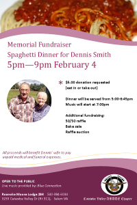 Memorial Fundraiser Dinner February 4th