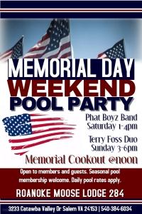 Memorial Day Weekend Pool Party
