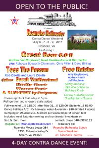 Roanoke Railroader Contra Dance Weekend