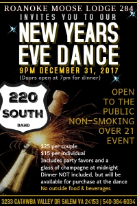 New Year's Eve Dance featuring 220 South Band